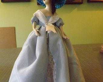 vintage half doll lamp