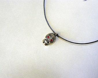 Leather Choker Necklace, Charm Choker Necklace, Leather Choker, Black Choker, Boho Choker, Charm Necklace, Choker Charm, 90s Choker, Choker