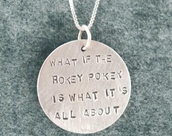 Hokey Pokey Necklace in Sterling Silver
