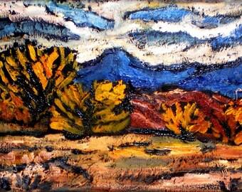 Autumn Pedernal   Ghost Ranch Georgia O'Keeffe Abiquiu New Mexico Taos Santa Few