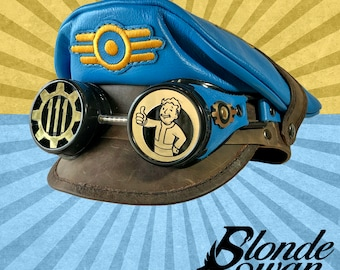 NEW!!! Fallout Inspired Crush Cap & Goggles