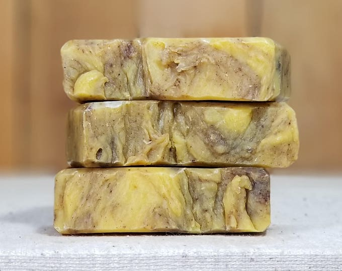 Perrin's Favorite Pumpkin Pie Soap -- All Natural, Handmade, Lightly scented, Hot Process, Vegan, Pumpkin Soap, Free Shipping