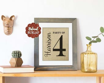 Party of 4 Sign, Party of Family Sign, Gallery Wall Decor, Family Number Sign, Pregnancy Announcement, Personalized Housewarming Gift