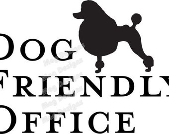 POODLE Vinyl Dog Decal Silhouette in your colors