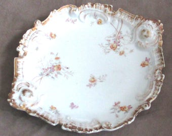 Vintage French flat Serving Tray
