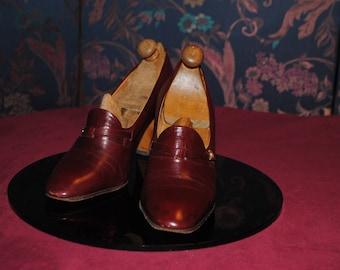 Moccasins a 1970 high heels - size: 36