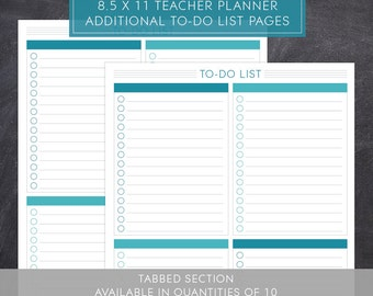 To-Do List Pages for Large Teacher Planner