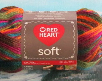 7289939 Red Heart Soft Yarn 4 oz Jeweltone
