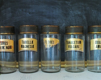 French apothecary bottles - pick your favorite - 1 of 5
