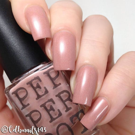 Nude Neutral Pink Nail Polish Showing Some Leg Pepper Pot