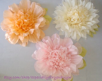 """Set of 3 -19""""Giant Paper Flowers  - Perfect Decorations for Wedding,Birthday Party&Baby Shower"""