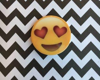 5pc. Love Smiley Face Emoji planar resin flatback