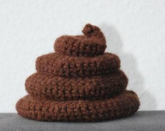 Poo Crochet Pattern, Poop Crochet Pattern, Piece of Crap Crochet Pattern, Poo Amigurumi Pattern, Amigurumi Poop Pattern, Amigurumi Crap