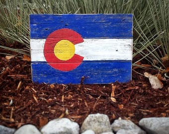 Colorado flag sign, rustic wood Colorado flag, Colorado decor, Colorado wall art, Colorado state flag, rustic Colorado flag, wood flag,