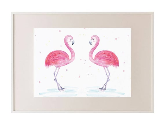 Flamingo Flaming Flamingo Pink Framed Print