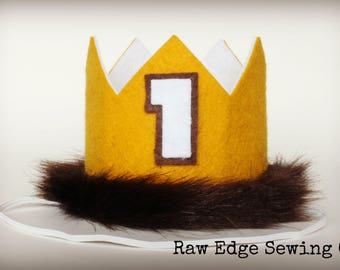 Where The Wild Things Are Crown Birthday Party Hat Cake Smash Headband Custom First One Max Wild One