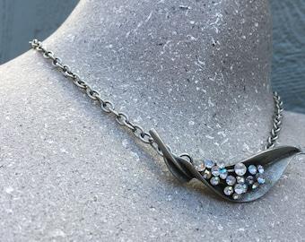 Sparkly Vintage Brooch Necklace