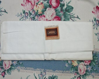 """Vintage Full Flat Sheet, Pacific Muslin, Never Used, SO Nice 90 x 108"""""""