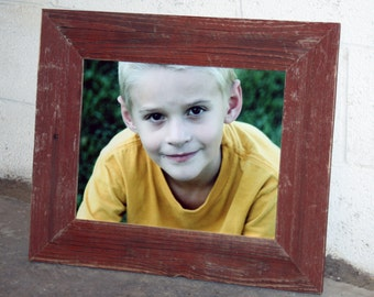 "11"" x 14"" Thin x 3"" RED Barn Wood Picture Frame"