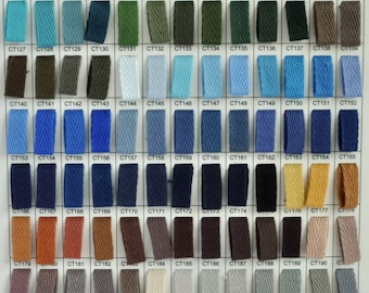"""10% OFF ANY 1/4"""", 6mm cotton twill tape, 300 yard roll of cotton herringbone twill tape, over 200 colour choices, wholesale prices"""