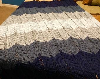 Jacob's Ladder Afghan, Crochet Afghan, Crochet Blanket, Jacob's ladder Blanket