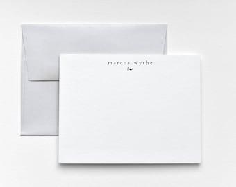 FORUM Modern Letterpress Stationery - Personalized Flat Note Set - Mid Century - Forum