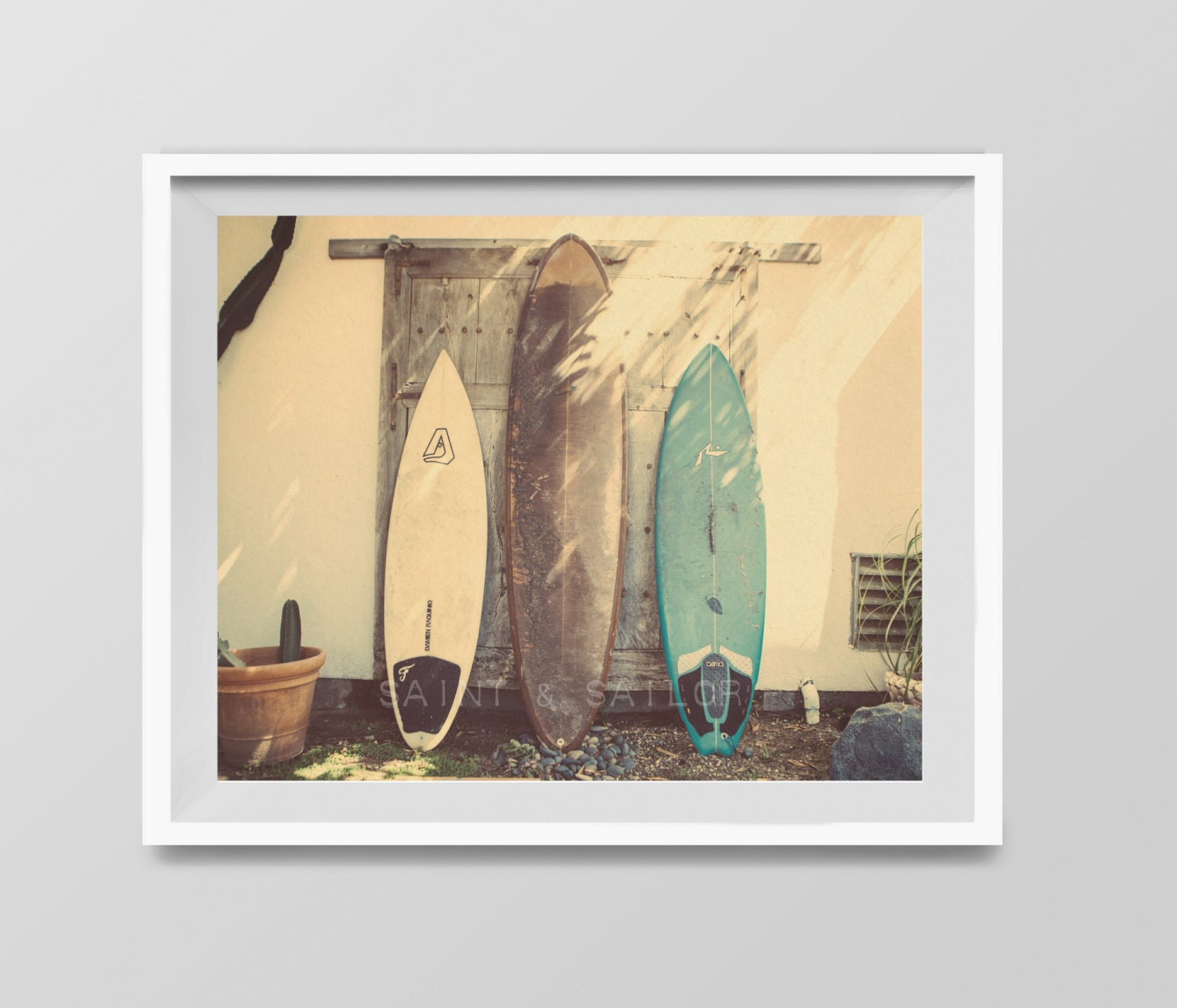 Surf Art Vintage Surfboards Surf Decor beach photos