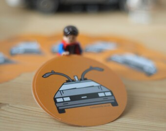 Back To The Future Inspired 'Delorean' Vector Fan Art Icon Stickers [FREE SHIPPING to the UK]