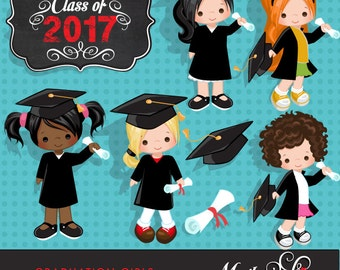 Graduation Clipart. Graduation graphics, cape, scroll, cap, class of 2018 graphics, graduate girls, planner stickers, chore charts, girls