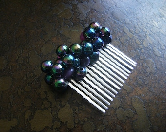 Prism Acrylic and Candy Jade Wire Wrapped Hair Comb