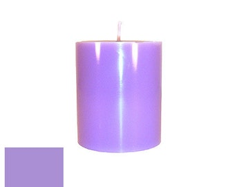 3 x 3.5 Lavender Classic Hand-poured Unscented Pillar Candles Solid Color
