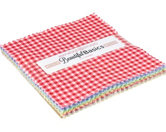 "Beautiful Basics Classic Checks Charm Pack - 42 - 5"" Precut Squares - by Maywood Studio"
