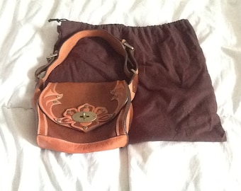 mulberry prairie tooled leather handbag
