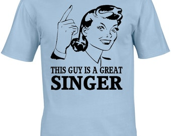 Singer Mens T-Shirt - Gift Idea Musician Music Lyricist Vocals Vocalist Lyrics Writer Composer Sing