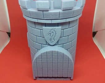 Dice Tower 3D Printed Pathfinder Dungeons and Dragons Other Games RPG Castle Nerd