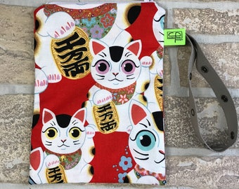 Maneki neko wristlet , Maneki neko phone holder, coin purse