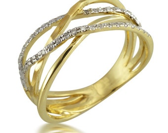 Art Deco Engagement Ring, Wedding Ring, Width Ring, Promise Ring, Anniversary Ring, Yellow Gold Ring, Stackable Ring, Band Ring, Gift