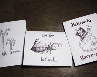 Believe in Yourself 3 card pack (encouragement, get well, graduation)