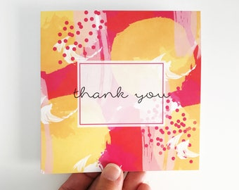 Thank You Card {SUMMER BRIGHTS}