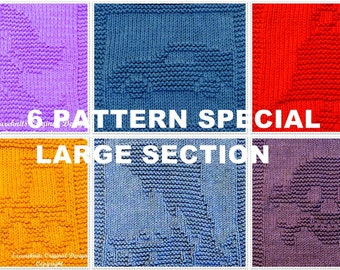 6 LARGE Cloth Knitting Pattern Special - Save Now!