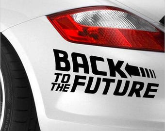 Back To The Future Logo Decal - Black