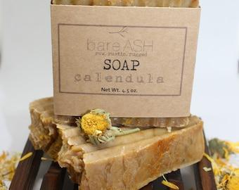 bareASH Calendula (Unscented) Goat Milk Soap