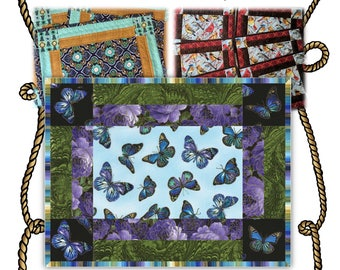 Four O'Clock -- Quilted Placemat Pattern Digital Download