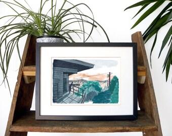 City Landscape Print | Giclée Print | Wall Art | Illustration | Modern | Silverlake