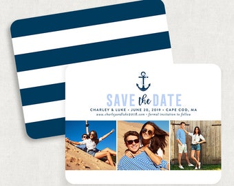 Nautical Save the Dates, Anchor Save the Dates, Destination Wedding Save the Dates, Printable Save the Dates, DIY Save the Dates, PDF