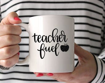 Teacher Fuel - Hand lettered SVG