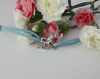 Horse suede bracelet
