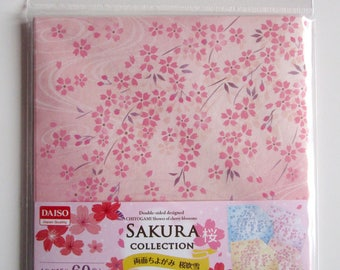 "Chiyogami origami paper double sided 15 x 15 cm ""sakura collection 1-60 sheets"