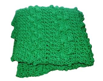 Häkeln Baby Afghan Lila Decke Krippe Afghanisch Grüne