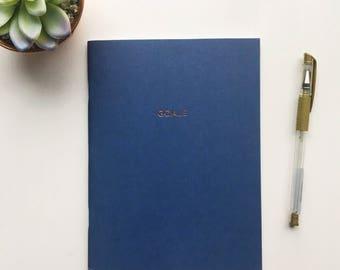 Beautiful navy 'goals' notebook